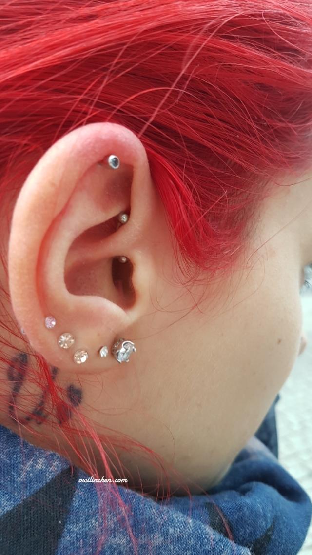 Entzündet welche salbe piercing Piercings heilen